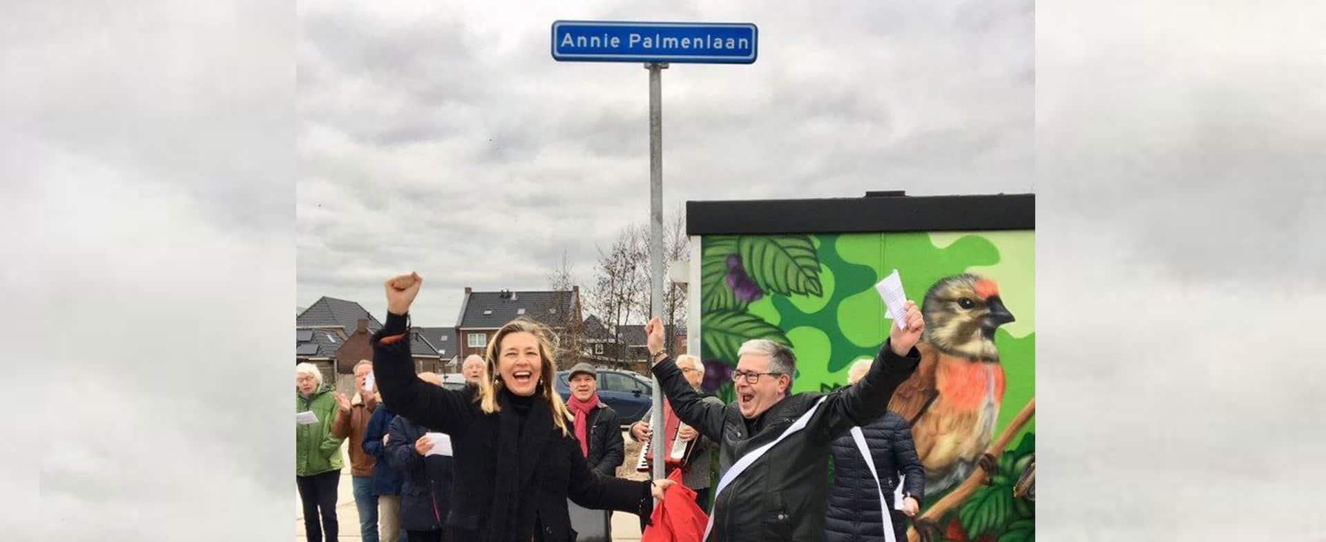Eerbetoon aan Annie in Beverwijk