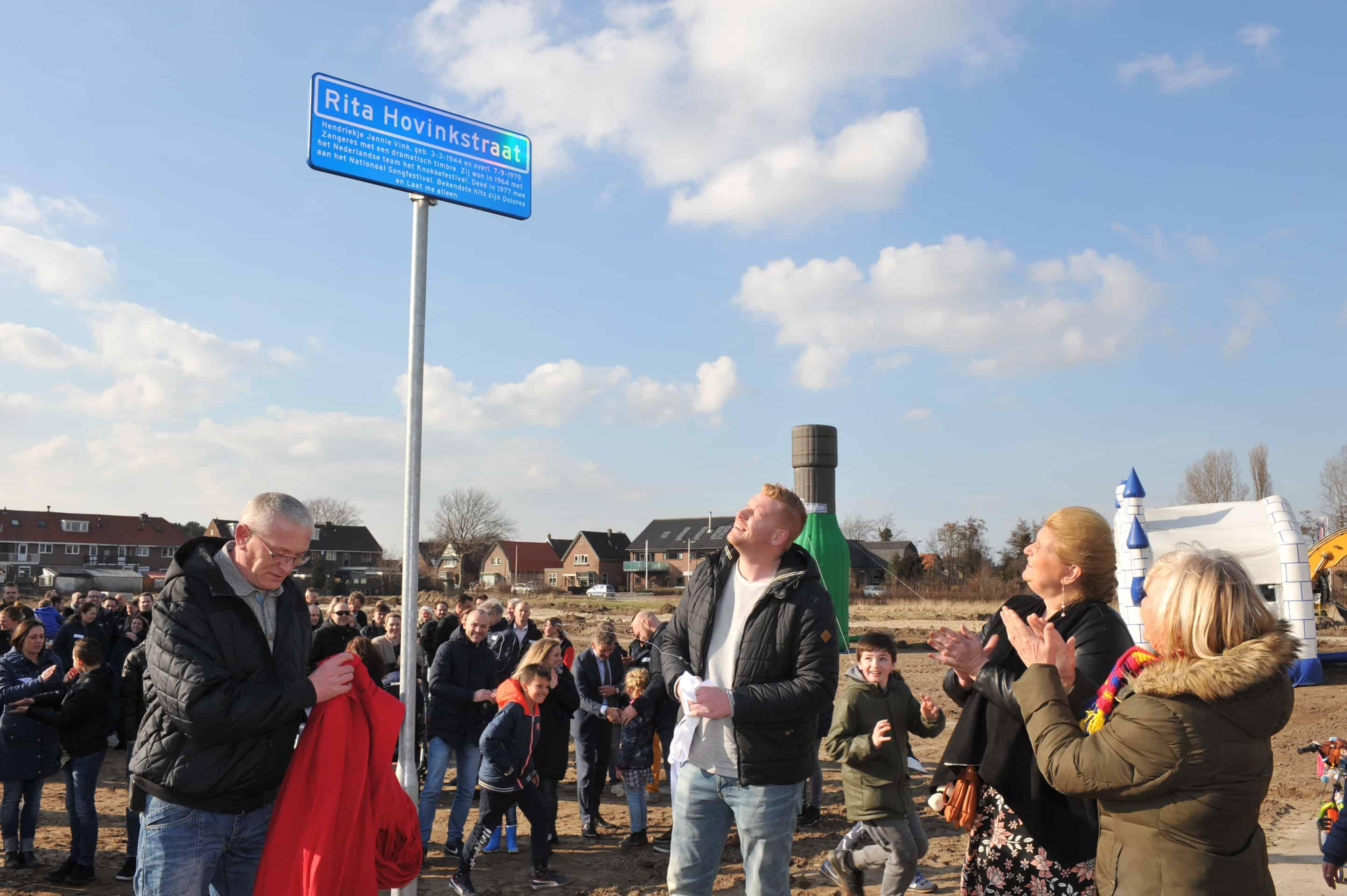 Onthulling straatnaambord en start bouw Rita Hovinkstraat